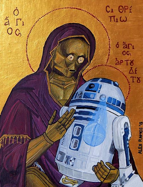 C3PO,R2D2 - Madonna and Child