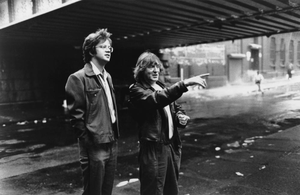 JACOB'S LADDER, Tim Robbins, director Adrian Lyne, on-set, 1990, (c)TriStar Pictures